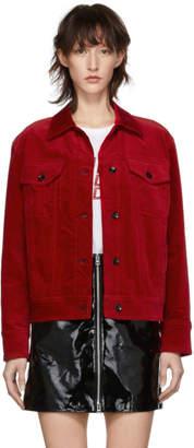 Rag & Bone Red Velvet Oversized Jacket