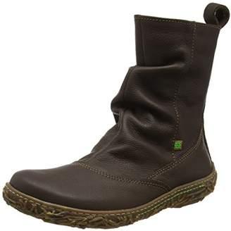 Elan International El Naturalista Women's N722 Soft Grain Brown/Nido Slouch Boots, N12, (41 EU)