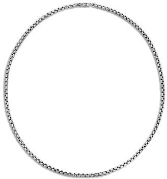John Hardy Classic Chain Box Chain Necklace with Figurative Naga Lobster Clasp