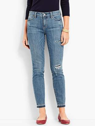 Talbots Patched Denim Slim Ankle - Stratton Wash
