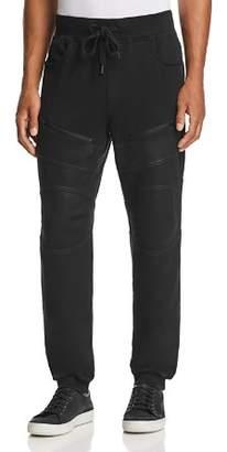 True Religion Tonal Coated Moto Sweatpants