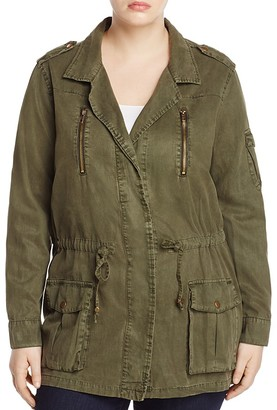 Lucky Brand Plus Drawstring Military Jacket $139 thestylecure.com