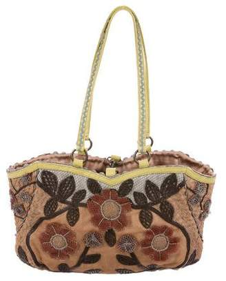 Jamin Puech Leather-Trimmed Mesh Bag