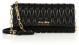 Miu Miu Miu Miu Matelasse Leather Chain Wallet