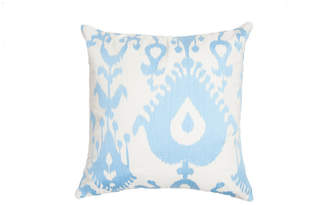 Ediehome Edie@Home Oversized Ikat Embroidered Pillow Ice
