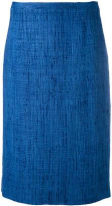 Kiton tweed straight skirt