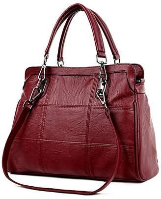0bfb807f3edf WANU Leather Handbags Women Fashion Shoulder Bags PU Top-handle Luxury Bag  for Wife Ladies