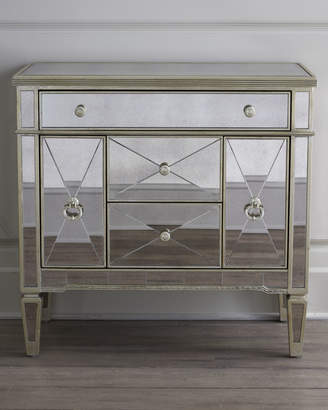 Horchow Amelie Small Mirrored Chest