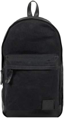 MAHI Leather - Leather and Canvas Classic Backpack in Black