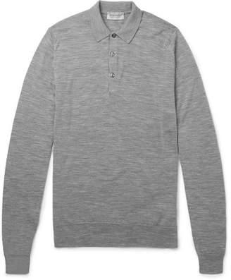 John Smedley Slim-Fit Merino Wool Polo Shirt