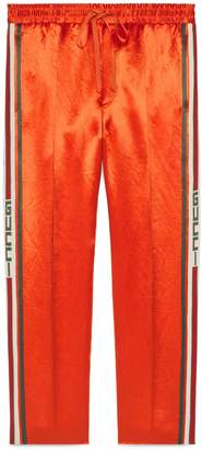 Gucci Acetate jogging pant with stripe