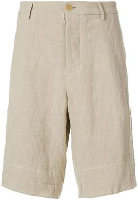J.W.Anderson back patch linen shorts