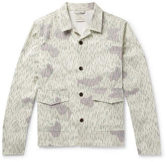 The Lost Explorer - Camouflage-Print Organic Cotton-Twill Overshirt