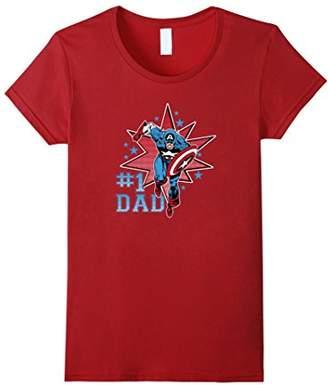Marvel Captain America Dad Graphic T-Shirt