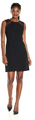Amy Byer Women's Scuba Crepe Sleevless Fit N Flare Dress