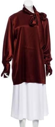 Theory Sateen Long Sleeve Tunic