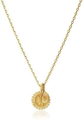 Satya Jewelry Citrine Mini Mandala Pendant Necklace (16-Inch with 3-Inch Extender)