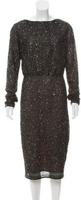 Rachel Gilbert Embellished Midi Dress
