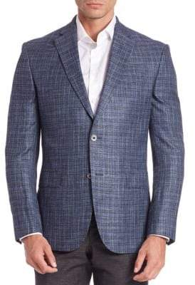 Saks Fifth Avenue COLLECTION Bamboo Windowpane Sportscoat