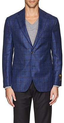 Jack Victor MEN'S PLAID WOOL-BLEND TWO-BUTTON SPORTCOAT - BLUE SIZE 40 R