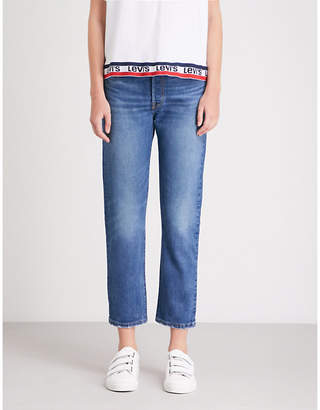 Levi's 501 high-rise straight cropped jeans