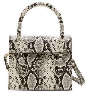 At Mango Snakeskin Effect Bag