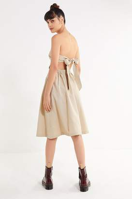 Urban Outfitters Linen Tie-Back Tube Dress