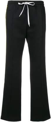 Miu Miu side striped cropped track pants