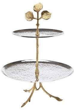 Godinger Leaf Two-Tiered Server