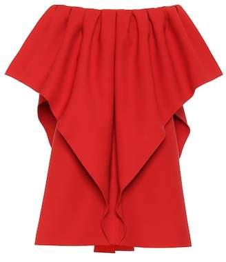 Valentino Virgin wool off-the-shoulder dress