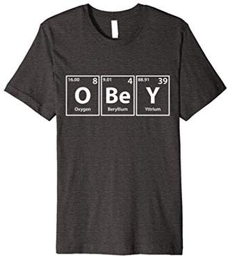 Obey Periodic Table Elements Spelling T-Shirt