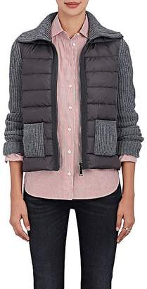 Moncler Women's Down-Quilted & Wool-Cashmere Sweater - Medium Grey