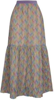 0f0c605bf7 Missoni Geometric Weave Maxi Skirt