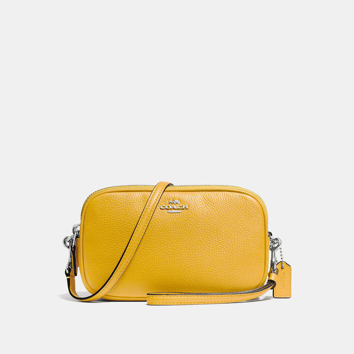 Coach  COACH Coach Crossbody Clutch In Polished Pebble Leather