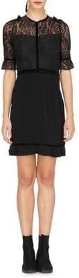Adelyn Rae Darla Woven Lace Twofer Dress