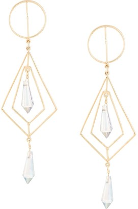 Mercedes Salazar Secret Geometry Diamond-shaped Earrings