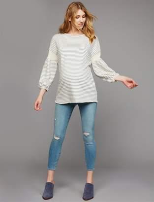 J Brand Pea Collection Secret Fit Belly Mid-Rise Capri Maternity Jeans
