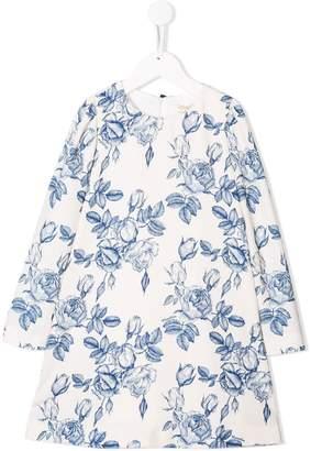 MonnaLisa floral long-sleeve dress