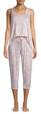Tahari Two-Piece Lace-Trimmed Pajama Set