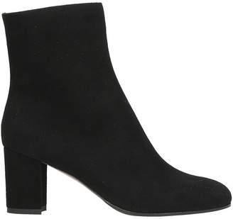 L'Autre Chose Black Suede Leather Ankle Boots