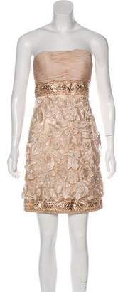 Sue Wong Strapless Lace Mini Dress w/ Tags