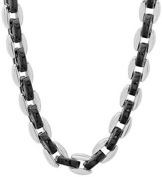FINE JEWELRY Mens Two-Tone Stainless Steel 24 Chain Necklace