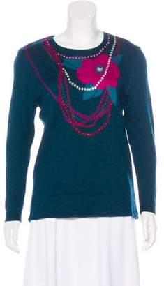 Saint Laurent Vintage Embellished Knit Sweater