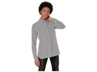 Lauren Ralph Lauren Petite Crepe Button Down Shirt