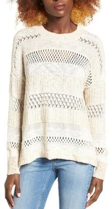 Women's Billabong Wandering Wonderland Open Knit Sweater $64.95 thestylecure.com