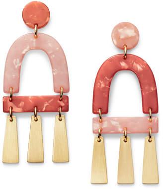 Fossil Terracotta-Inspired Acetate Chandelier Earrings