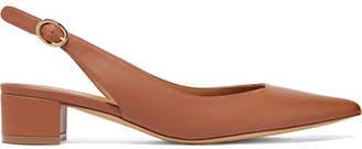 Mansur Gavriel Leather Slingback Pumps - Light brown