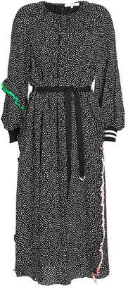 Tibi Martine Shirred Printed Dress