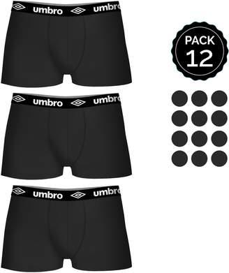 Umbro 12 pcs. Boxers Set 100% Cotton (x12)