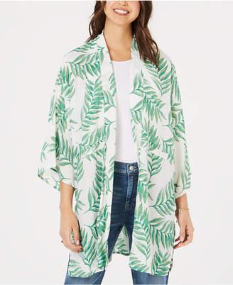 Say What Juniors' Tropical-Print Kimono